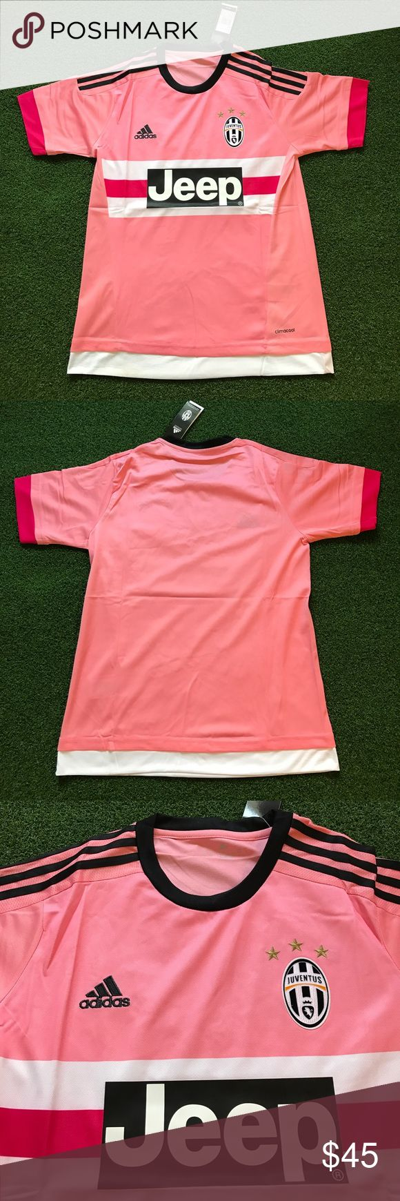 Pink Juventus Soccer Jersey Short Sleeve 2015/16 New and never worn! MENS ADULT SIZES. Has tags - 2015/2016 Juventus pink short sleeve soccer jersey (NO NAME AND NO NUMBER ON BACK). Italian team - kit - futbol - uniform - champions league Shirts Tees - Short Sleeve