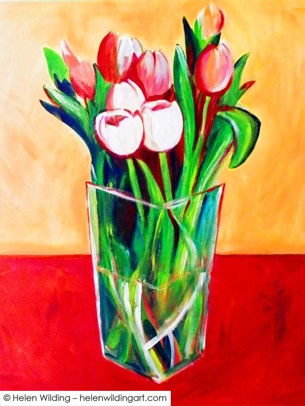 Painting Anne's tulips - Helen Wilding Art