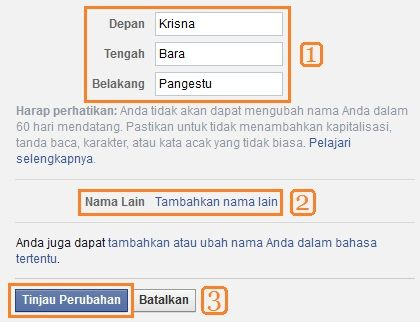 Cara Mengganti Nama Facebook Terbaru