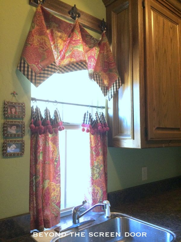 Handkerchief Valance and Cafe Curtain for Sale | Beyond the Screen Door