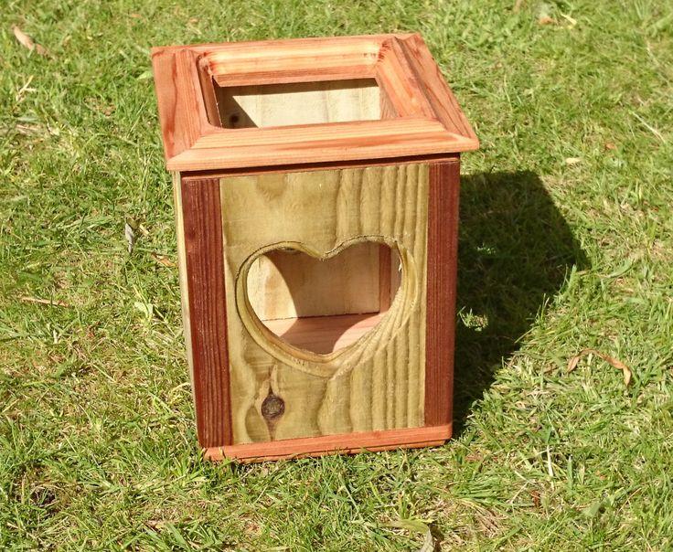 Tea light holder Cedar and tanalised timber finished in teak oil, Patio,Graden by ReclaimedLivingLtd on Etsy