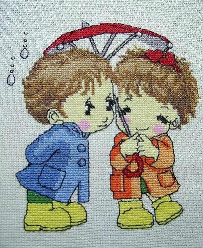 Cross-stitch picture