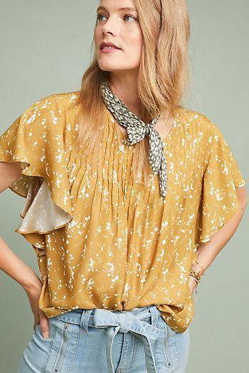 048ec889373fc Cheerful Silk Blouse | Summertime | Blouse, Ruffle blouse, Fashion