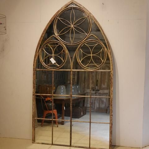 19thC French Iron Mirror