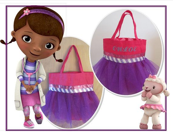 Doc McStuffins Inspired Tutu Tote Bag by ExpressYourselfTotes
