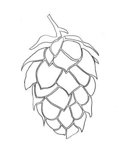 Beer Hops Stencil - IMAGE REPRODUCTION TECHNIQUES