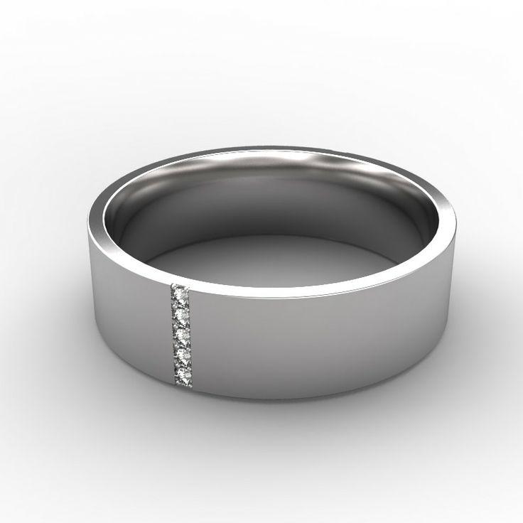 Photo : Bague homme Or blanc 18 cts Diamant Néo -