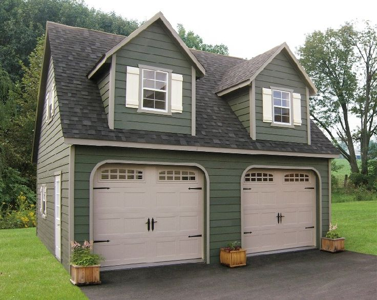 Home Look Prefab Garage With Two Doors