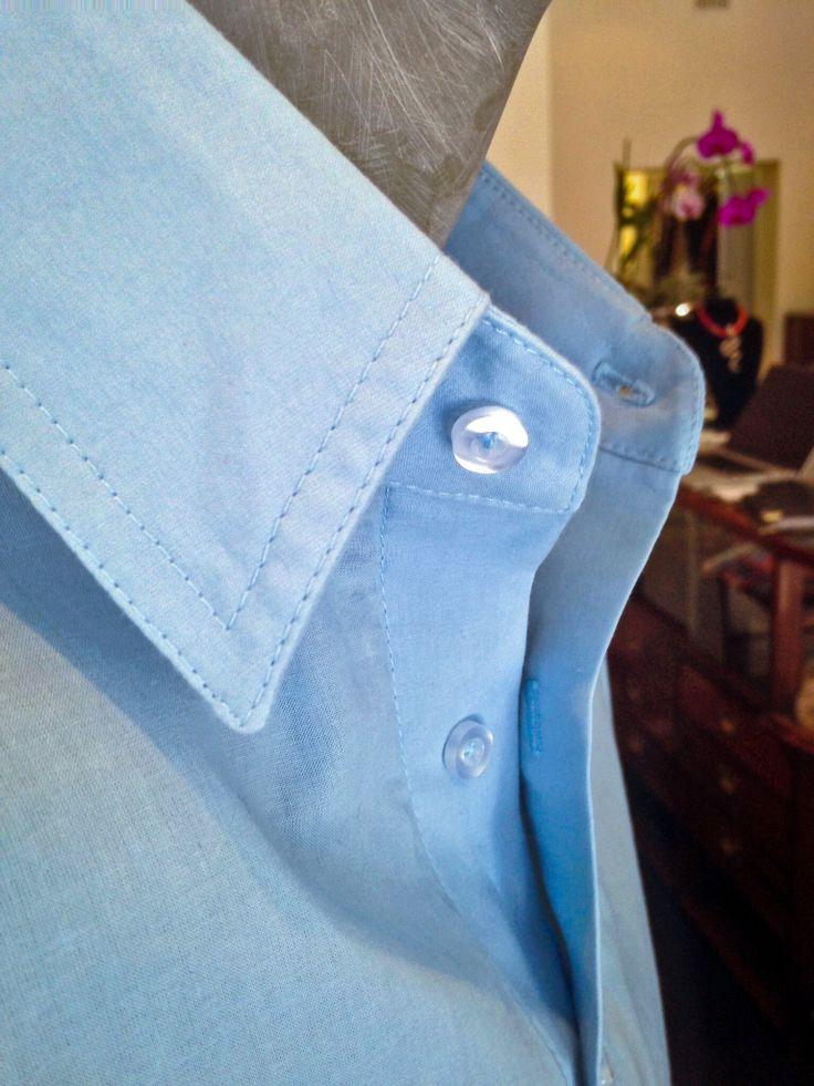 Cotton shirt detail.