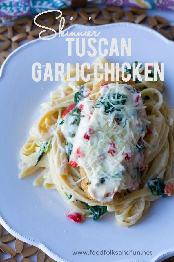 Skinny Tuscan Garlic Chicken Recipe - an Olive Garden Copycat Recipe