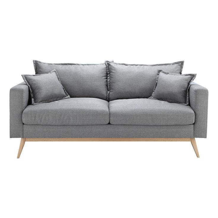 Canapé 3 places en tissu gris clair Duke € 499.90
