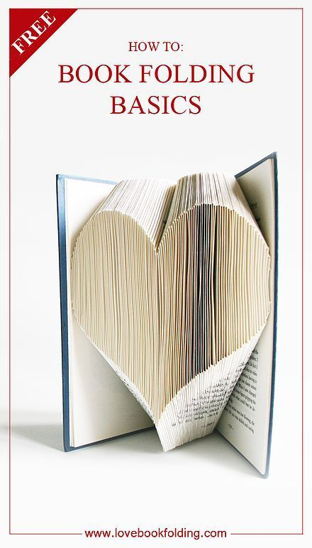 Love Book Folding | Book Folding Basics Explained - This lists several lessons to help a beginner learn the art of book folding. It's a great tutorial to learn the art. In the final lesson you are taken though the steps to fold the heart featured on Book Folding Basic. The pattern can be downloaded for free.