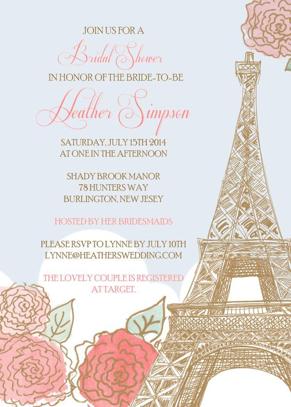 Hey, I found this really awesome Etsy listing at https://www.etsy.com/listing/179255083/paris-bridal-shower-invitation-printed