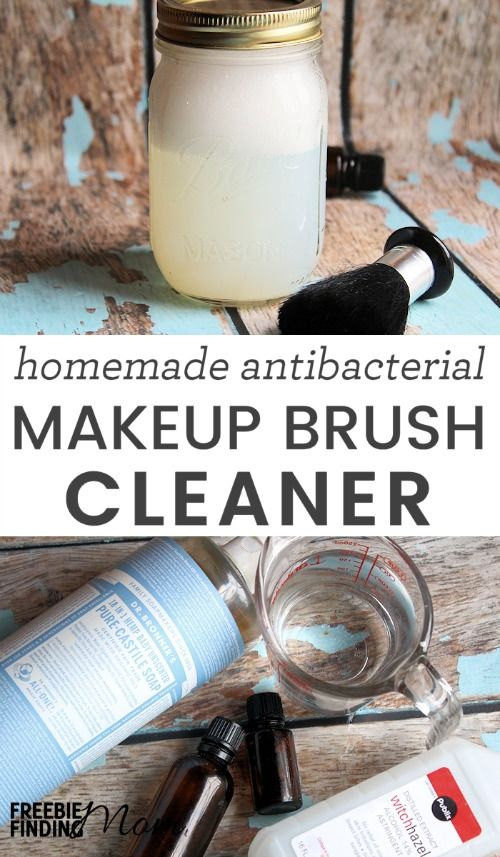 Did you know that dirty makeup brushes can result in clogged pores, germs, wrinkles, and wasted money? Take a few minutes and whip up this easy, all-natural, and affordable homemade makeup brush cleaner. This homemade beauty product requires only five ingredients and will quickly and effectively clean your makeup brushes.