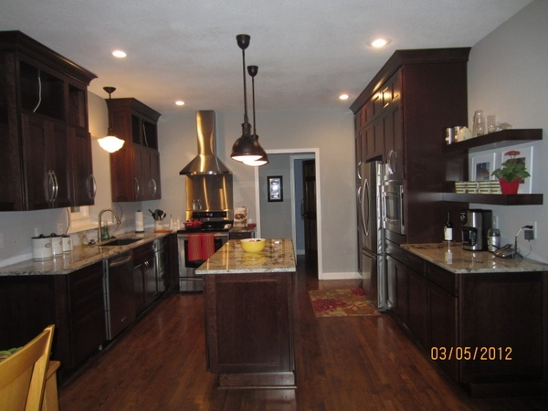 kitchen wall colors with dark wood cabinets cabinet kitchen this has the light gray wall color 9844