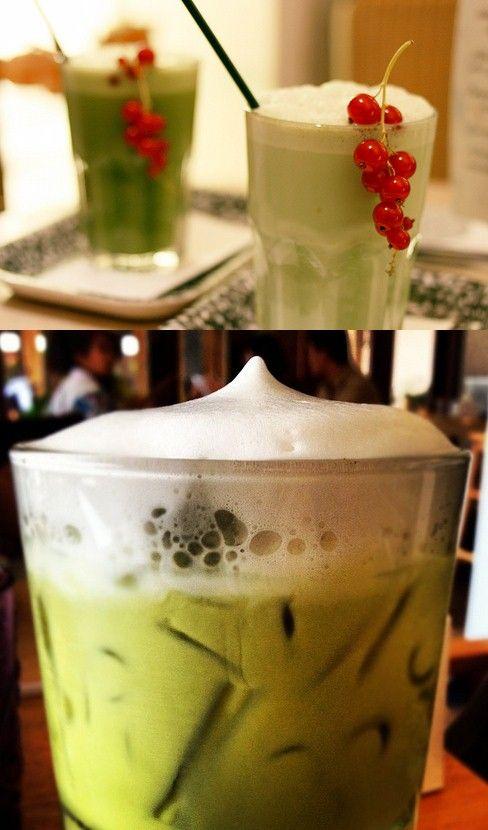 Recipe   Iced Green Tea Lattes (Sugar-Free) ... #healthy #drinks #diy