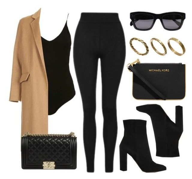 """""""Style #11664"""" by vany-alvarado ❤ liked on Polyvore featuring Topshop, Michael Kors, Gianvito Rossi, CÉLINE and Made"""