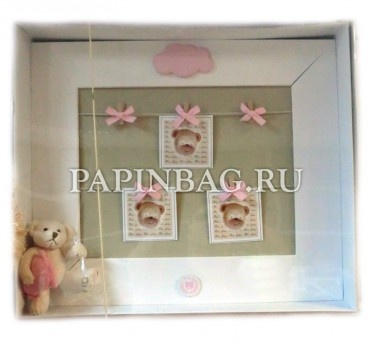 "Finest Baby wall panel with photo frames ""Teddies"""