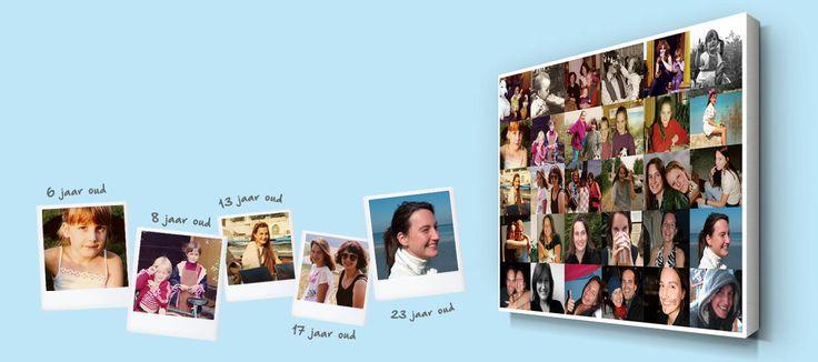 Collage met foto's op leeftijd