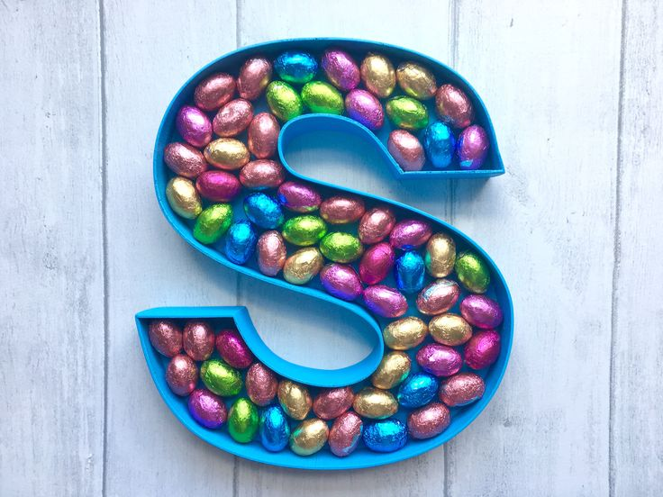 Personalised chocolate gift, Chocolate mini egg monogram, Personalised gift for chocolate lovers, Gift for Grandchildren, Grandparent gift by LoveLettersbyAnalisa on Etsy