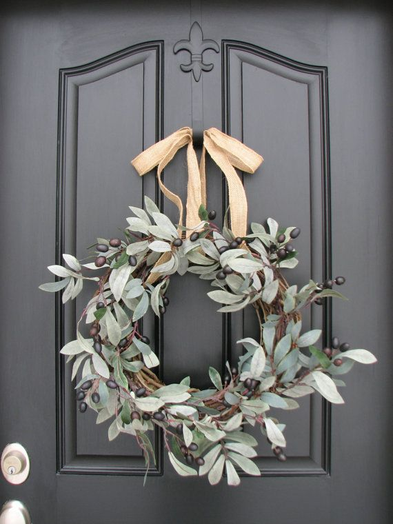 Olive Branches, Extending the Olive Branch, Olive Branch Wreath, Spring Wreaths, Holiday Wreaths, Black Olives, Chic Home Decor