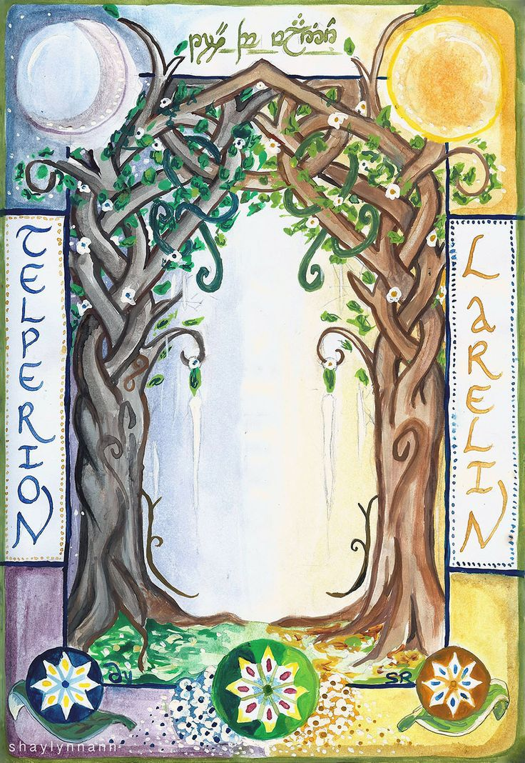 The Two Trees of Valinor by Shaylynn