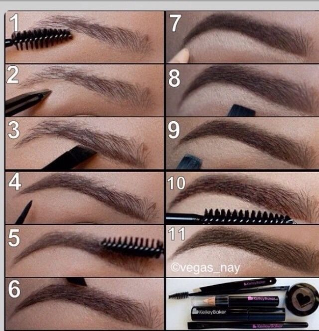 Perfect Eyebrow tutorial for thin eyebrows