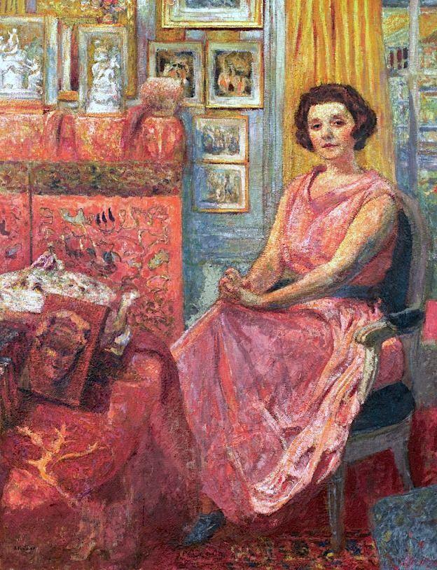 Madame Reine Benard-c.1920 by Edouard Vuillard