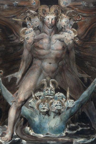 William Blake - Il Grande Drago Rosso e la bestia venuta dal mare