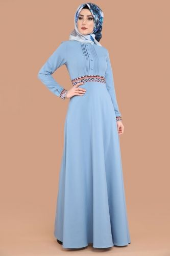 5128957ea60ce YENİ ÜRÜN ** Pul Nakışlı Tesettür Elbise Bebe Mavi Ürün kodu: MDS2021 -->  109.90 TL