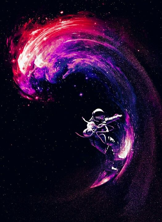 wallpapers trippy astronaut surfer - photo #2