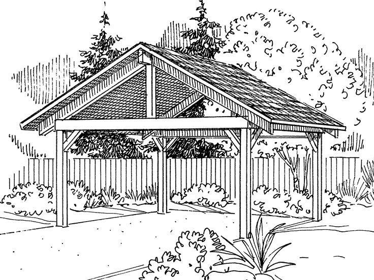Les 14 meilleures images à propos de carport - cabane - garage sur - plan maisonnette en bois