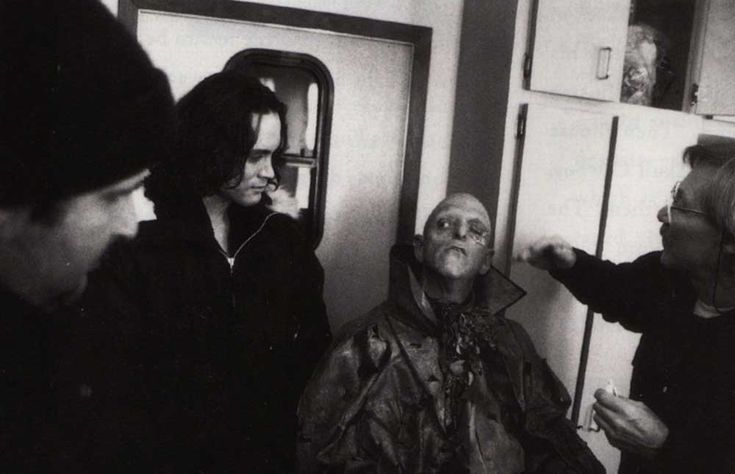 Brandon Lee watching Michael Berryman getting turned in to The Skull Cowboy (a role that got cut from the movie) for The Crow.
