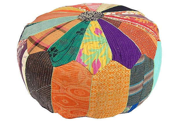 kantha pouf for the boomba 39 s room ba objects items pinterest. Black Bedroom Furniture Sets. Home Design Ideas