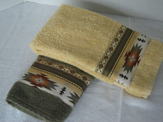 Aztec design hand/dish towels Southwestern decor by nonnasshop