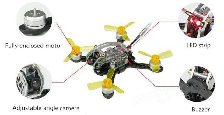 Kingkong FLYEGG 100 FPV racing drone with brushless motors. With wheelbase of 100mm the Kingkong FLY EGG is suitable for both outdoor and indoor flights.