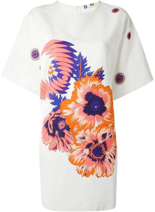 MSGM floral print kimono