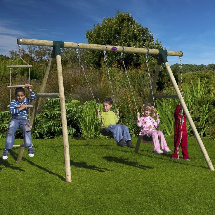 25 best ideas about wooden swing sets on pinterest for Rope swing plans