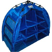 Pop Up Storage for small items like food or personal items. Collapses into a tiny tent.