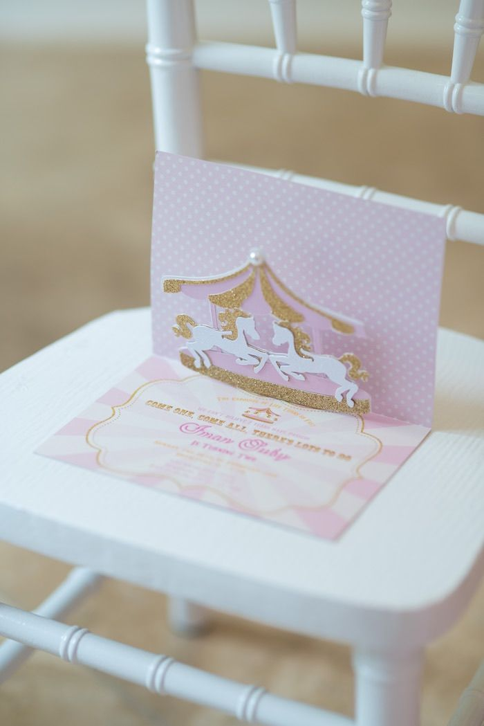 Best 25 Carousel birthday parties ideas – Carousel Party Invitations