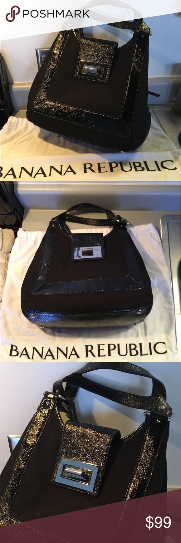 NWT Banana Republic Handbag Silver hardware. 3 divisions. Includes dust bag. Banana Republic Bags