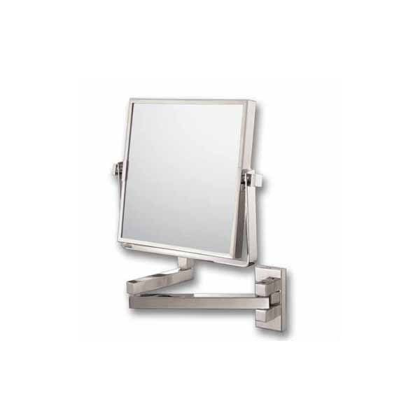 Kimball Young Inc 24073 Square Pivot Arm Wall Mirror Image Brushed Nickel