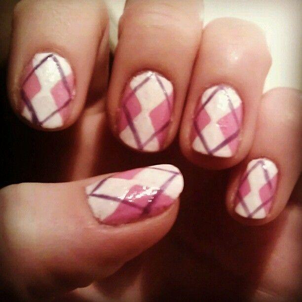 Ruitjes nail art