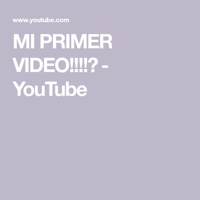 MI PRIMER VIDEO!!!!😵 - YouTube Primer Video, Videos, Instagram, Youtube, People, Youtubers, Youtube Movies