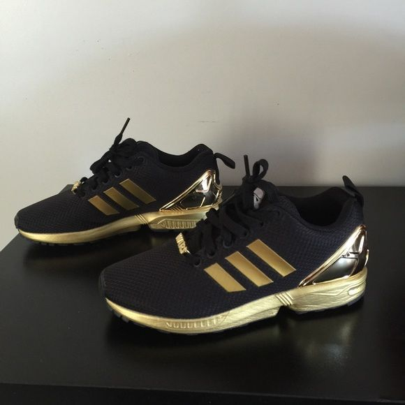 Adidas Zx Flux Black And Gold Kids