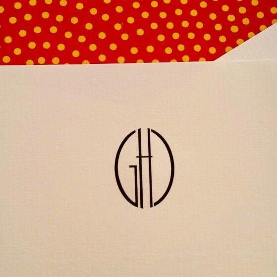 Art Deco style for a custom engraved monogram