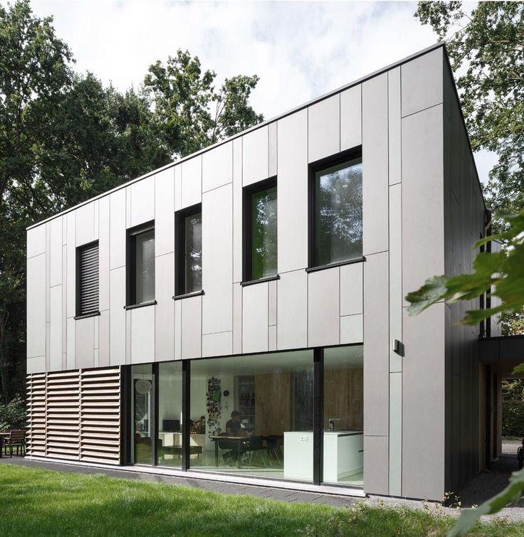 Modern villa in gentbrugge b equitone facade panels for Facade villa moderne