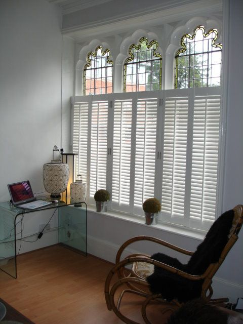These #shutters look wonderful with this type and shape of window.