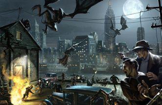 horror illustration city monsters