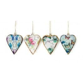 Set of 4 Mini Heart Decorations £7